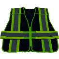 Petra Roc Two Tone 5-Point Breakaway Public Safety Vest, Zipper Closure, Navy/Lime, 2XL-5XL