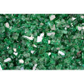 "Hiland Fire Glass RFGLASS-RGRN 1/4"" to 1/2"" Dia. Reflective Green 10 Lbs"