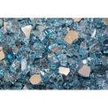 """Hiland Fire Glass RFGLASS-SKY 1/4"""" to 1/2"""" Dia. Reflective Sky Blue 10 Lbs"""