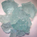 "Hiland Fire Glass RGLASS-AQ 1/2"" to 1"" Dia. Recycled Aqua 10 Lbs"