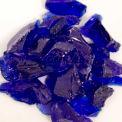 "Hiland Fire Glass RGLASS-CB 1/2"" to 1"" Dia. Recycled Cobalt Blue 10 Lbs"