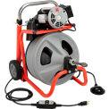 """RIDGID® K-400 Drum Machine W/Bulb Auger & Gloves, 115V, 6.7AMPS, 1/3HP, 75L x 3/8""""W Cable"""