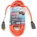 U.S. Wire 63025 25 Ft. Three Conductor Orange Extension Cord, 14/3 Ga. SJWT-A, 300V, 15A