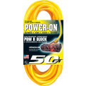 U.S. Wire 76050 50 Ft. 12/3 SJTW-A Pow-R-Block Extension, Round, Yellow, 300V, Illuminated Plug