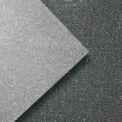 "Rubber-Cal ""Shark Tooth"" Heavy-Duty Mat, 3/4""THK x 4' x 6', Black Rubber Floor Protection Mat"