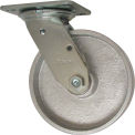 "RWM Casters 46 Series 7-1/2""Height, 6"" Cast Iron Wheel, Swivel Caster"