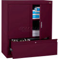 "Elite File N Store Counter Height Cabinet, 36""W x 18""D x 42""H, Burgundy"