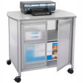 Safco® Products 1859GR Impromptu™ Deluxe Machine Stand with Doors - Gray