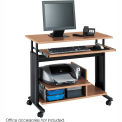 Muv™ Mini Tower Adjustable Height Workstation - Medium Oak