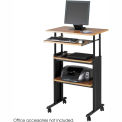 Muv™ Stand-up Adjustable Height Workstation - Medium Oak