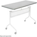 Mobile Training Rectangle Table Top only (Base Sold Separately) 48 x 24 Gray