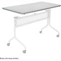 Mobile Training Rectangle Table Top only (Base Sold Separately) 60 x 24 Gray