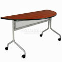 Impromptu Mobile Training Table 48 x 24 Half Round Gray