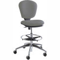 Metropolitan Extended Height Chair - Gray Fabric Upholstered