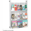 Luxe™ Magazine Rack - 9 Pocket - Silver