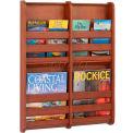 Safco® Bamboo Magazine Wall Rack 4 Pocket, Cherry