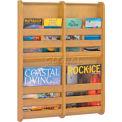 Safco® Bamboo Magazine Wall Rack 4 Pocket, Natural