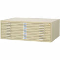 """10-Drawer Steel Flat File for 30"""" x 42"""" Documents - Sand"""
