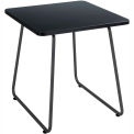 """Safco End Table - 20"""" - Black with Black Frame - Anywhere Series"""