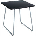 """Safco® End Table - 20"""" - Black with Silver Frame - Anywhere Series"""