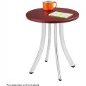 Safco® Decori™ Wood Side Table, Short, Mahogany