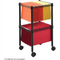 Safco® 2-Tier Compact File Cart, Black