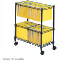 Safco® 2-Tier Rolling File Cart