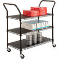 Safco® 5338 3 Shelf Black Wire Utility Cart