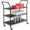 Safco® 5338 3 Shelf Black Wire Utility Cart