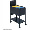 Safco® 5362 Extra Deep Letter Sized Mobile Tub File with Lock - Black