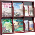 Expose 6 Magazine 12 Pamphlet Display - Mahogany/Black
