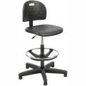 Safco Soft Tough Economy Workbench Stool - Polyurethane - Black