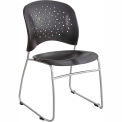 Safco® Rêve™ Guest Chair Sled Base Round Back, Black