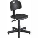 Safco Soft Tough Deluxe Task Chair - Polyurethane - Black