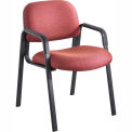Cava Urth Straight Leg Guest Chair, Burgundy Fabric