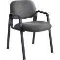 Cava Urth Straight Leg Guest Chair, Black Fabric