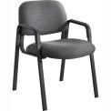 Cava Urth Straight Leg Guest Chair, Black Fabric