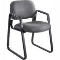 Cava Urth Sled Base Guest Chair, Black Fabric