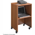 Lectern Base/Media Cart - Medium Oak