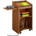 Executive Mobile Lectern - Medium Oak