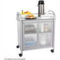 "Safco 8966 - Impromptu™ Refreshment Cart, Gray. 34""W x 21-1/4""D x 36-1/2""H"
