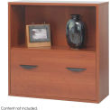 Après™ Modular Storage Shelf with Lower File Drawer - Cherry