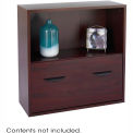 Après™ Modular Storage Shelf with Lower File Drawer - Mahogany