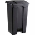 Plastic Step-On Receptacle- 23 Gallon Black