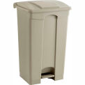 Plastic Step-On Receptacle- 23 Gallon Beige