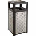 Evos™ Series Steel Garbage Can w/ Ash, 15 Gallon - 9933BL