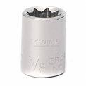"""Craftsman® Industrial™ 9-23100 3/8"""" Socket 8 Pt., Standard, Inch, 3/8"""" Drive"""
