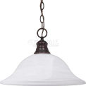 "Nuvo 60/391, 1 Light-Pendant, Alabaster, Old Bronze, 16""W X 11.5""H"