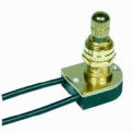 Satco 80-1134 On-Off Metal Rotary Switch  5/8-in. Bushing  Brass Finish