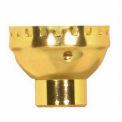 Satco 80-1210 Aluminum Cap - 1/4 IP Less Set Screw - Brite Gilt